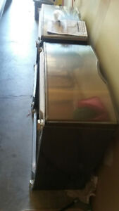 """Pedestals, Stainless Steel 27"""" sq x 15""""H as New"""