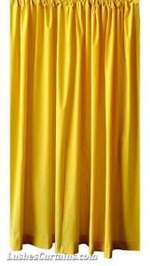 Yellow velvet curtain long panel modern home door window drapes ebay