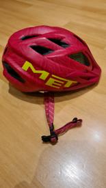 Met-Rx Children's Crackerjack Helmet - Size 52/57cm - Pink/Green
