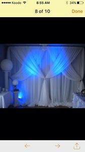 NICE CHAIR COVER,*TABLECLOTH,*BACKDROP* London Ontario image 7