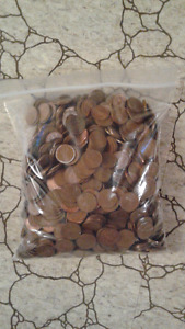 Over 5lbs of pennies!