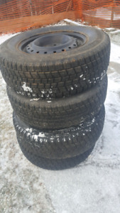 Bridgestone winter tires with steel rims 215/70/15