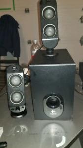 Logitec PC Speakers and Sub For sale