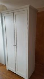 Ikea white grained wardrobe