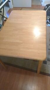 Wooden Table with pop-up leaf