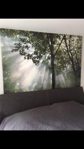 Cadre toile Ikea arbre