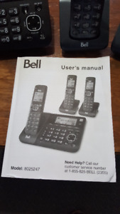 Bell Cordless Phone with built in answering Machine
