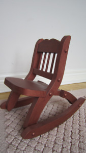Wooden doll chair ( fits from 12'' to 18'' doll ) dark brown