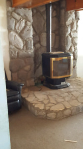 Trade Oil Fireplace with a Wood Fireplace