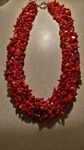 Petrified Red Coral Necklace