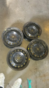 Steele rims from honda fit 4x100/ 15 inch rims