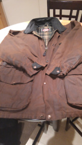 Canadian made oilskin coat. Has Budweiser on the back.great cond