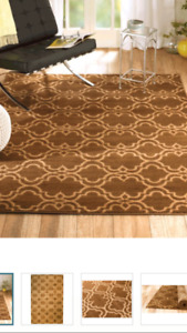 New Brown/Cream Area Rug 7' 4 and 10' 6 (Never Used)