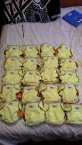 20 new Pumkin Patch cloth diapers 8-22Lbs 5$ each