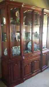 Solid Wood Dining Table, Chairs and Hutch Windsor Region Ontario image 1