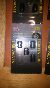 Dark grey metal tire valve caps *brand new *
