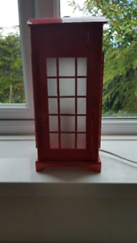 58745a83444 Table Lamp Red Telephone Box Light