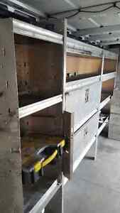 Sprinter shelving and rooftop lader wrack