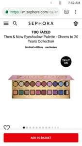 Too faced Sephora palette exchange for gift card