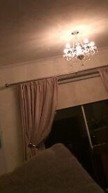 Cream curtains for sale ( 2 pairs )
