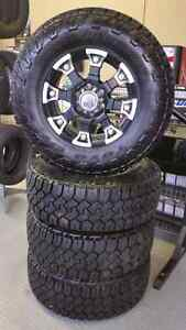 LT285/70R17E Toyo Open Country CT Studded on wheels with TPMS