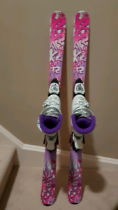Girls Skis and Boots Set