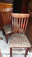 2 Solid Wood Dining Room Chairs