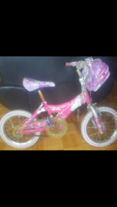 Girls barbie bike sz 14 for ages 5 to 7