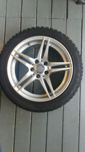 Toyo winter tires 225/45/R17 on original mags for Mercedes B250