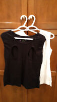 Black and a White Sleeveless Nursing Tops Sz L