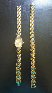 Gold Watch with Matching Bracelet
