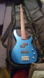 Fender Squire Bass Guitar and Amp