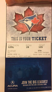 2 Blue Jays vs Yankees tickets June 3rd