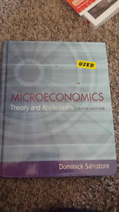 ECON 301 - Microeconomics Theory and Applications - 5th edition