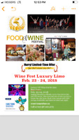 Wine and food fest limo package