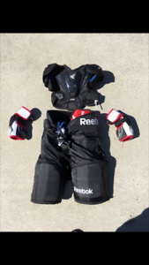 Hockey Gear (Pants, Shoulder Pad/Chest Protector, Elbow Pads)