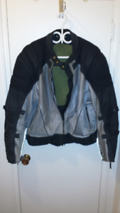 Men's Fully-Padded Motorcycle Jacket by The Gear w/Summer Mesh