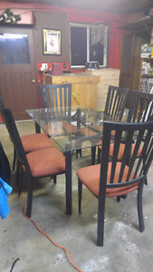 Kitchen table with two matching bar stools