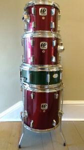 "Westbury ""Fusion"" Drum Kit Wine Red with cymbals"