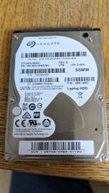 """Seagate 2TB 2.5"""" HDD (LAPTOP Hard disk)"""