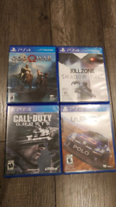 PS4 GAMES - NEW 2018 GOD OF WAR, COD GHOSTS