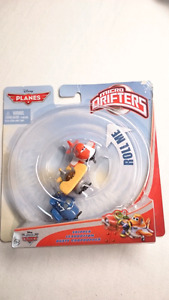 DISNEY PLANES DIECAST MICRO DRIFTERS SKIPPER, LEADBOTTOM,  DUSTY