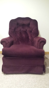 Upholstered swivel chair for sale