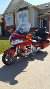 Honda Gold Wing GL 2008, candy apple red, factory loaded.
