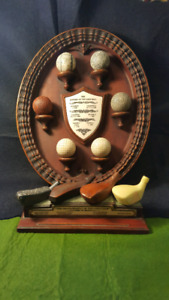 Golf History Wall Plaque and Desk Monunent