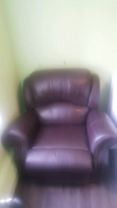 Italian Leather Recliner - Burgundy - Great condition