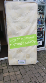 Single 3ft orthopaedic mattress free local delivery