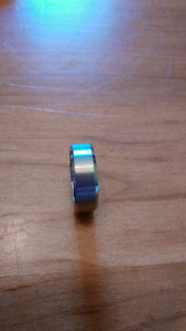 Mens titanium ring.