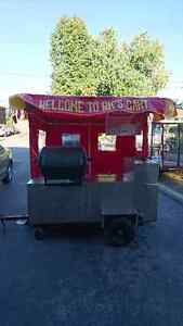 FULLY ENCLOSED HOT DOG CART FOR SALE!