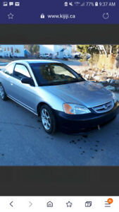 Honda civic coupe 2002 REDUCED PRICE!